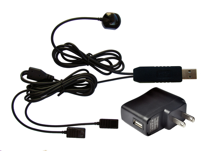 1 to 2 Infrared Remote Control Receiver Cables with USB Port, 30-50kHz Frequency Range
